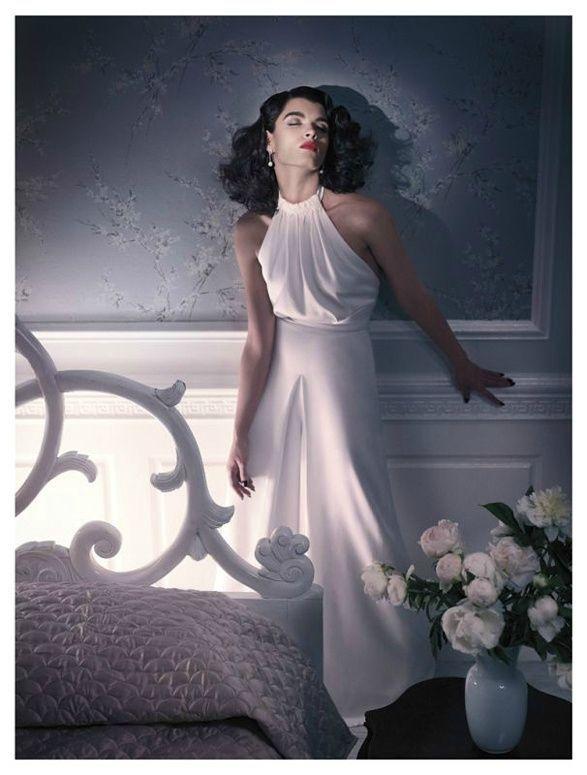 Lights, Camera … Crystal Renn Lensed by Mark Seliger for Vogue España (July, 2011)