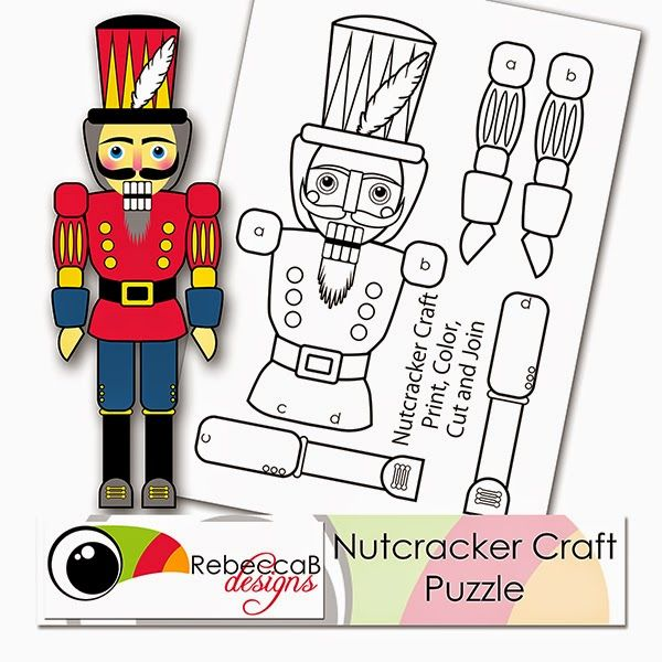 U printables by RebeccaB: FREE Printable - Nutcracker Craft Puzzle