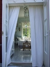 pair doors and white curtains - gotta have!