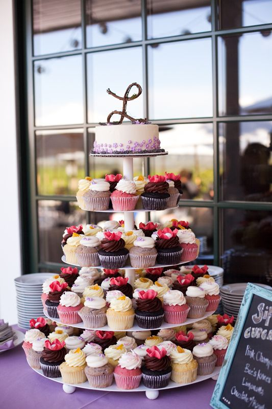 cupcake wedding cake! Then guests can have the flavor(s) they want to try. Fun for guests.