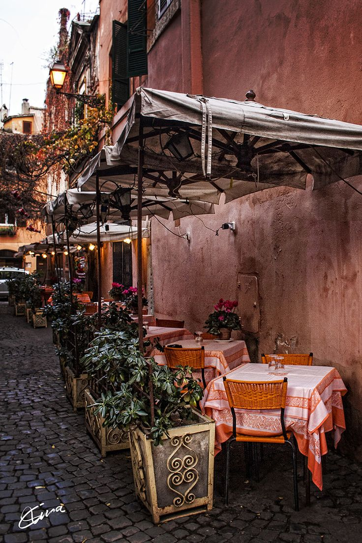 Little Restaurant in Rome, Italy