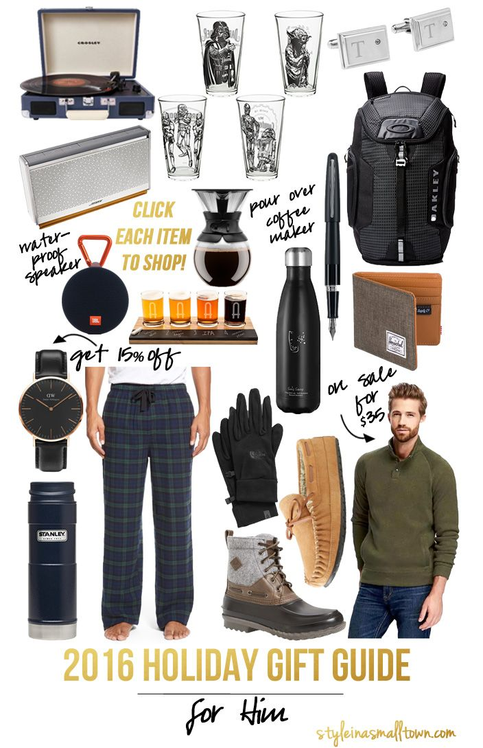 Gift Guide for Him - Style in a Small Town