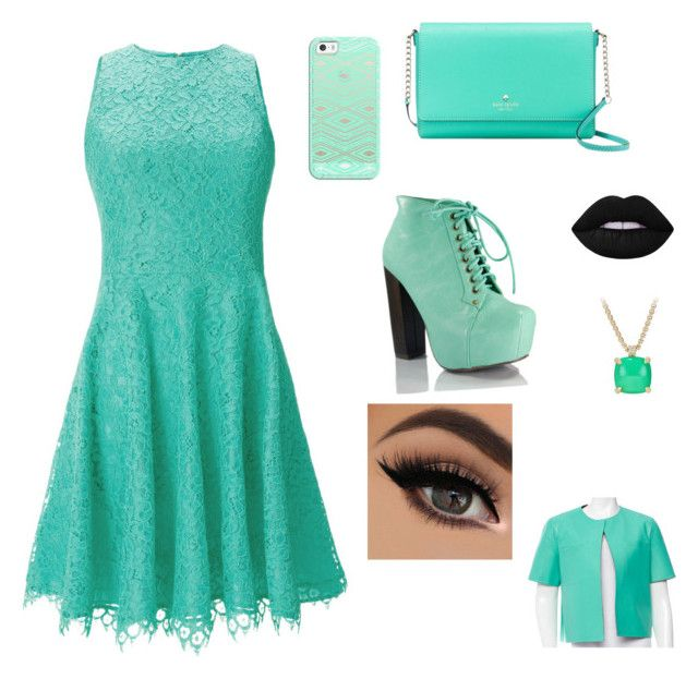"""""""sassy but classy"""" by tai-baii on Polyvore featuring Shoshanna, Kate Spade, David Yurman, Casetify, Lime Crime and Marni"""