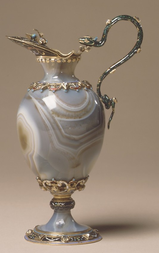 Ewer  Date: second half 19th century Culture: European Medium: Sardonyx with enameled gold mounts set with diamonds