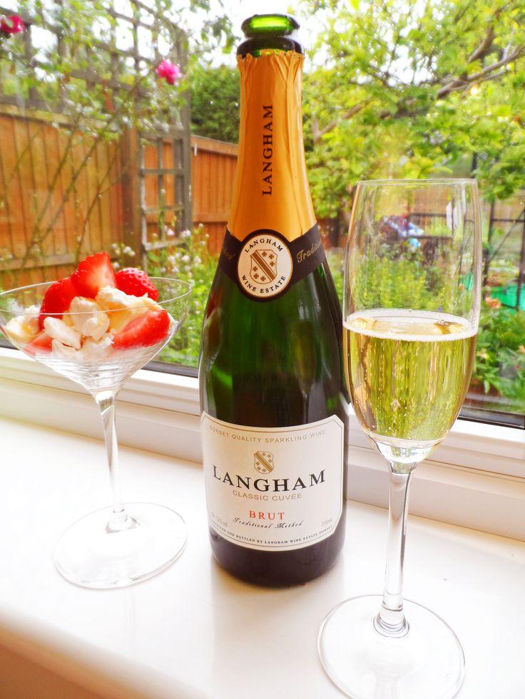 Langham Classic Cuvee and the Spiegelau Festival wine glass.