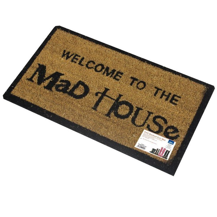 Mat Entrance Door PVC Backed Coir Mad House Entrance Door