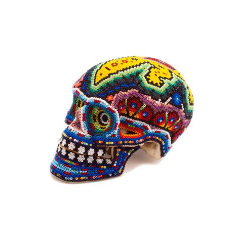 Huichol Indian art skull, small at British Museum shop online