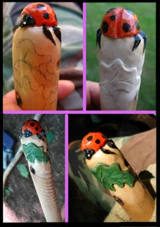 (3 of 3) Carving a Lady Bug Walking Stick