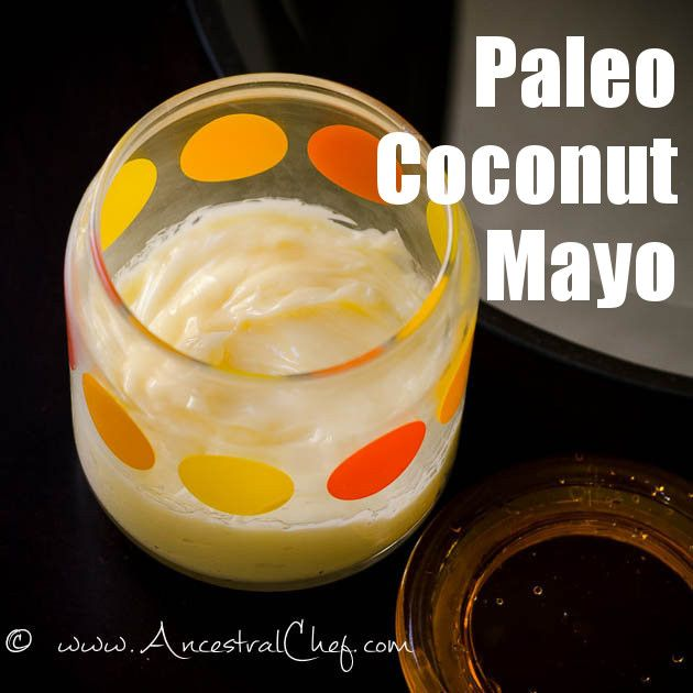 Get this thick and creamy Paleo Mayo Recipe made with coconut oil, and start enjoying healthy mayo! Photos and printable recipe available.