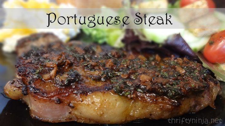 Portuguese Steak recipe for dinner.