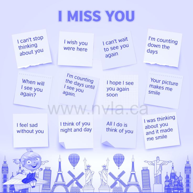 best english as a second language esl efl images different ways to say i miss you