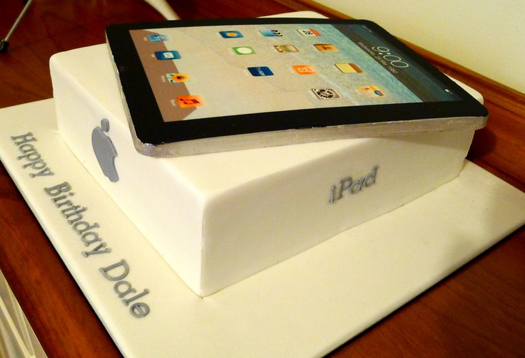 All edible iPad cake