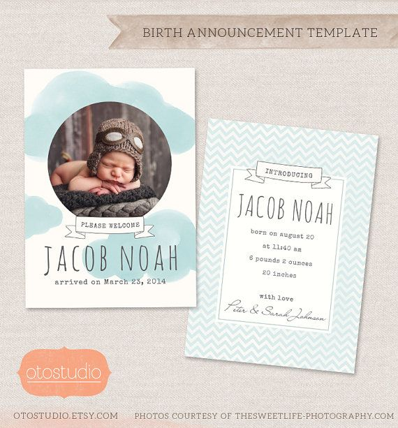 the 25 best birth announcement template ideas on pinterest birth announcements newborn. Black Bedroom Furniture Sets. Home Design Ideas