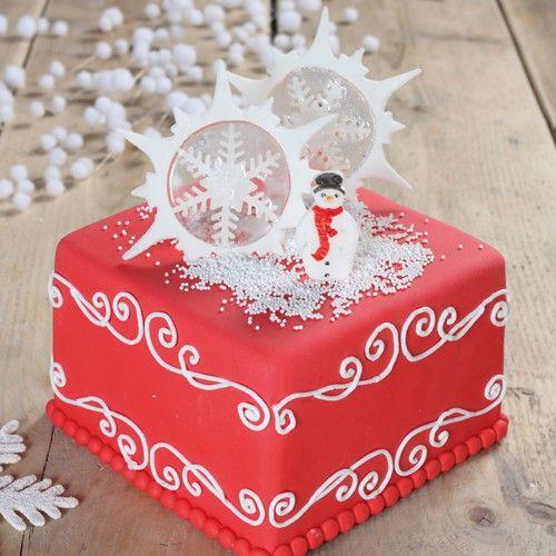 Recept: Vierkante Kerst taart - Kerst & Winter - Recepten | Deleukstetaartenshop.nl