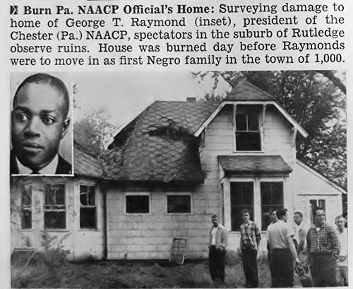 NAACP Official George Raymond's House Burned To Prevent A Black Family from Moving In - Jet Magazine, June 12, 1958 by vieilles_annonces, via Flickr