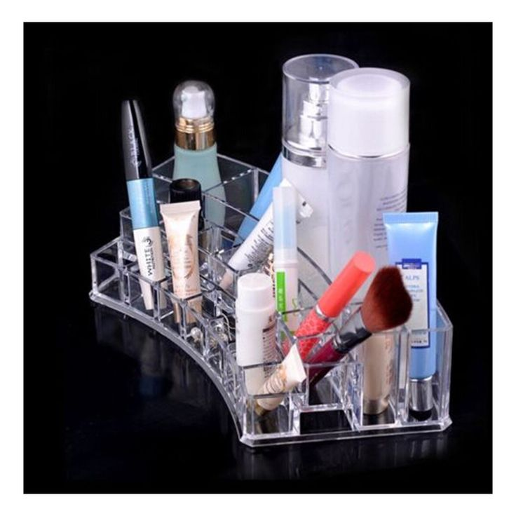 Clear Acrylic Makeup Cosmetics Jewelry Organizer Display Box Storage
