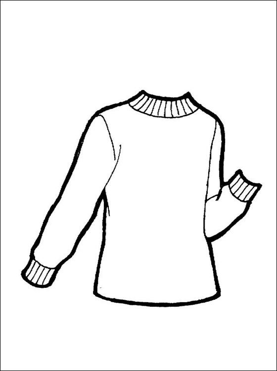 Pullover kleurplaat | Gratis kleurplaten
