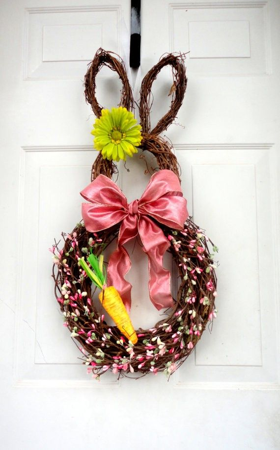 1000 images about 2016 diy easter bunny wreath ideas on for 3 wreath door decoration
