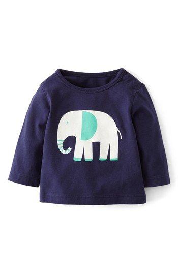 Mini Boden 'Fun' Print Logo T-Shirt (Baby Boys) available at #Nordstrom