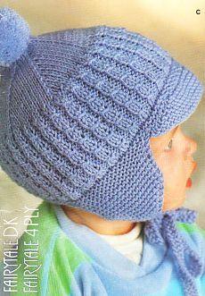 Детская вязаная шапочка с козырьком | Вязание спицами и крючком – Азбука вязания