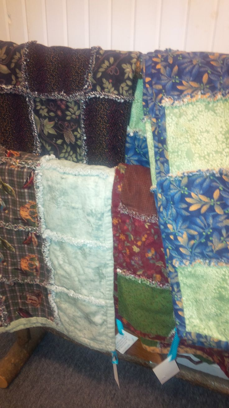 Rag Throw Quilts ~ Hand Sewn & Lovingly made here in Perth, Ontario.  Available at Mariposa Design 73 Foster Street, Perth, ON K7H 1R9