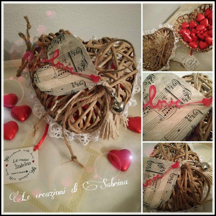 Cuore romantico realizzato con cannucce di carta !