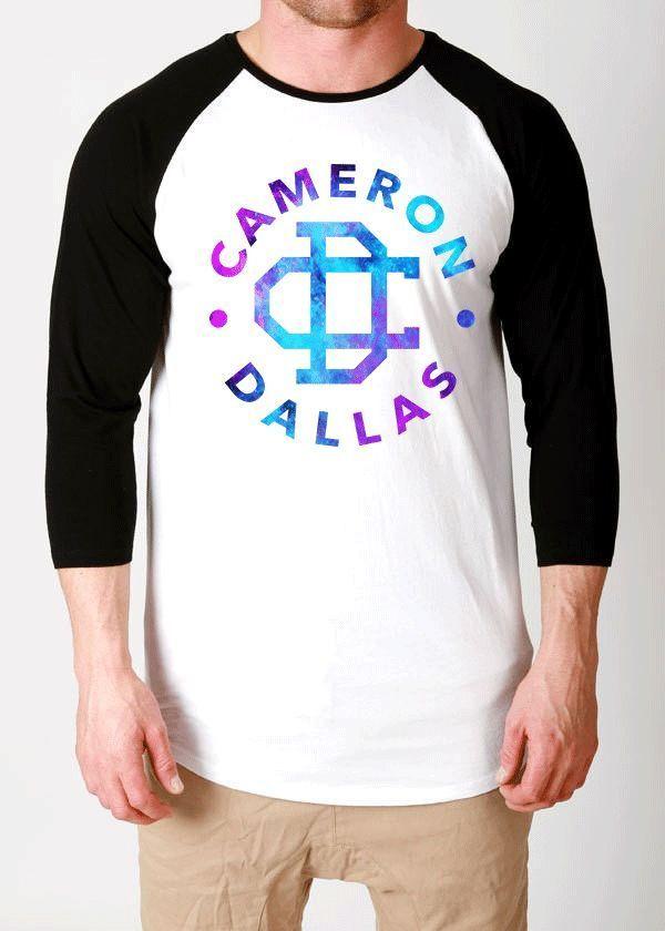 cameron dallas galaxy shirt tshirt magcon t-shirt logo our second life tour vine #UNBRANDED #raglanbaseball