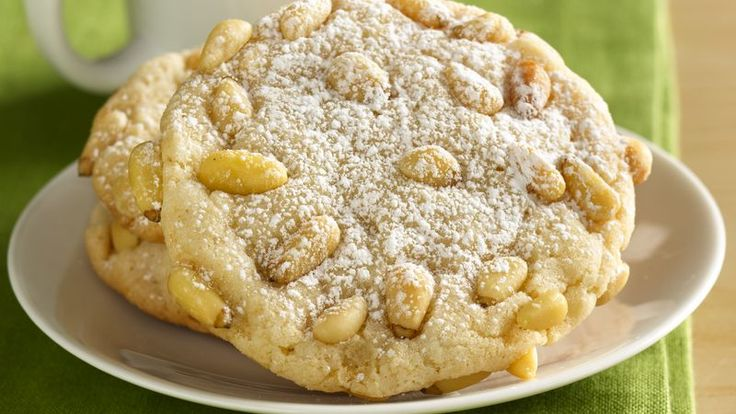 Prize-Winning Recipe 2008! Bring a delicious and sweet part of Italy into your home with a classic almond cookie rolled in pine nuts.