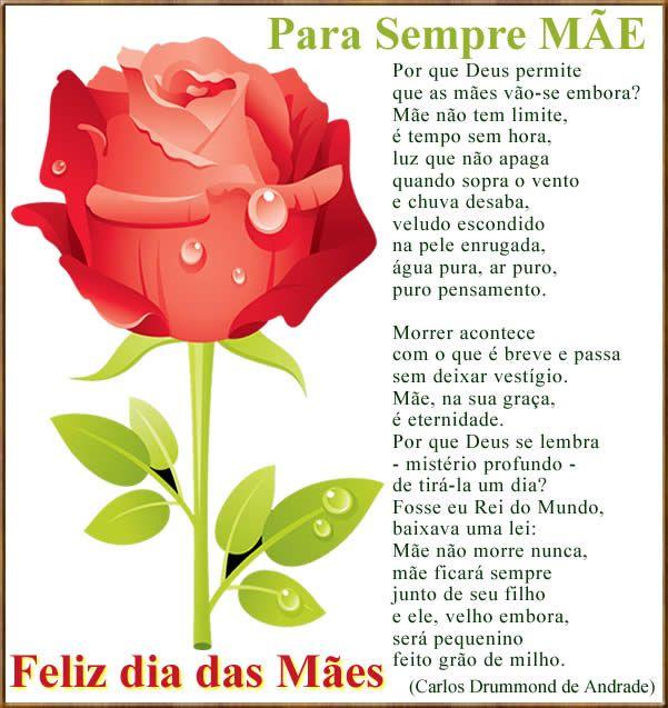 poesia de Drummond sobre o dia das mães