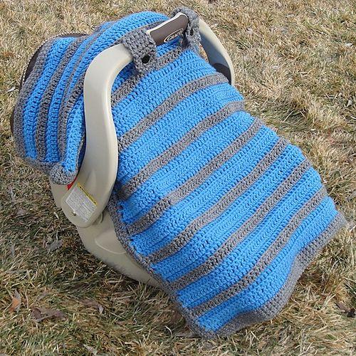 baby shower gift idea: Crochet Car Seat Canopy
