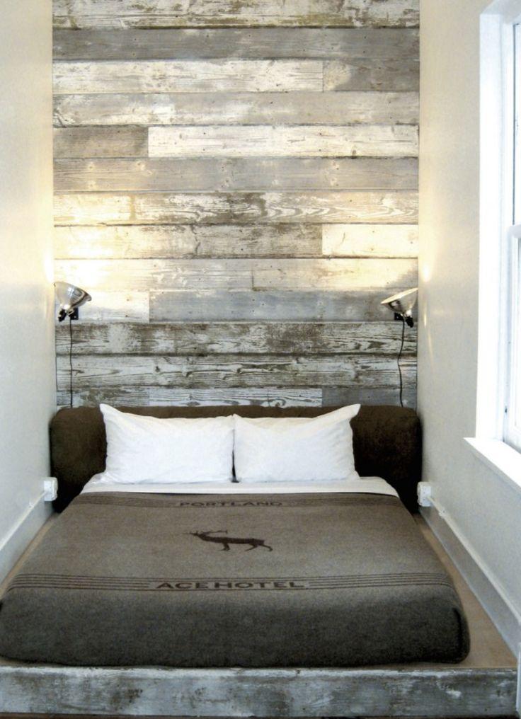 Muros revestidos en madera como cabeceras muros - Cabeceros de piedra ...