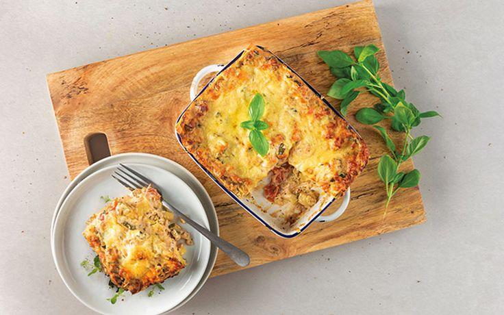 Vegetarische lasagne met ricotta en courgette