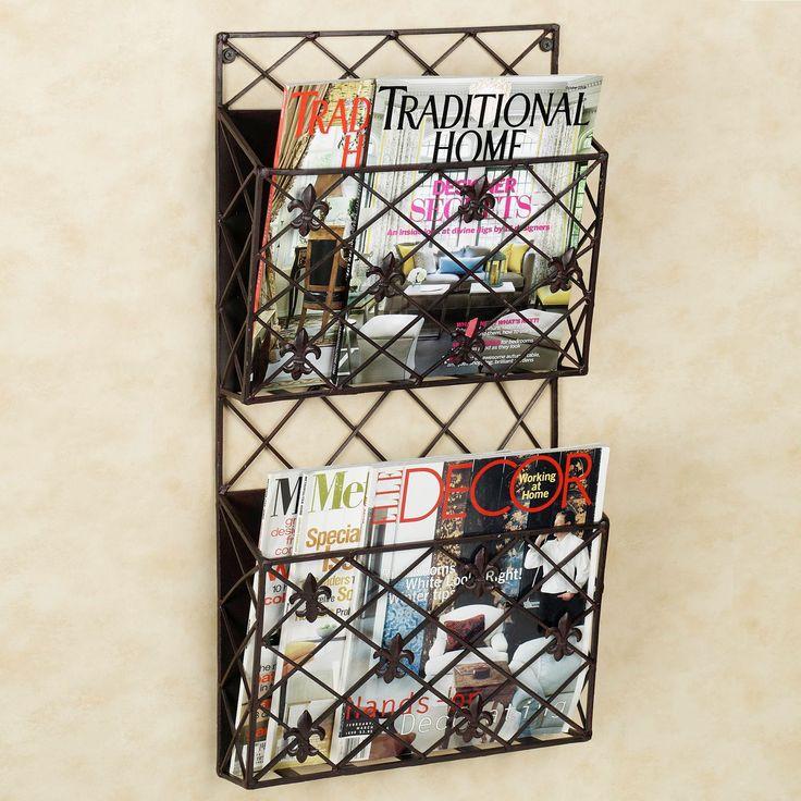 Creative Ideas Of Wall Mounted Magazine Rack: Vintage Magazine Rack Wall  Mount | Wall Mounted