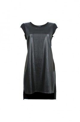 Pearl Perforated PU Dress-BLACK-8 AUS $60 on sale frm $100