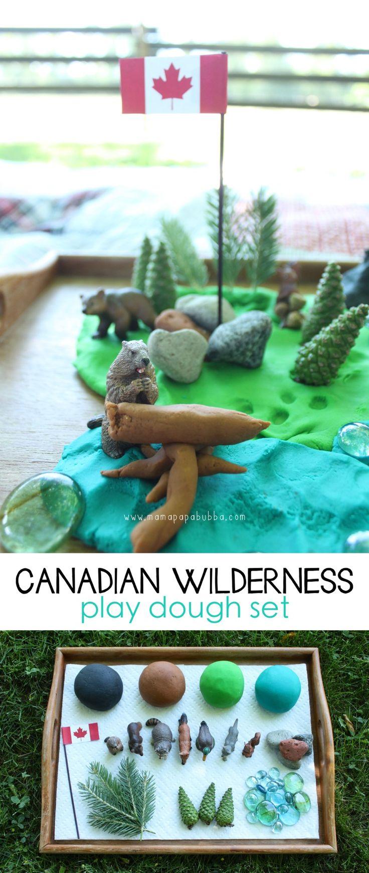 Canadian Wilderness Play Dough Set | Mama.Papa.Bubba.