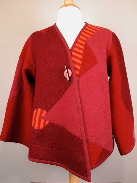 upcycled felted wool sweater
