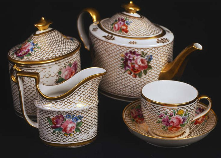 Part of a Coalport china tea-set which belonged to 'The Ladies of Llangollen', 18th century