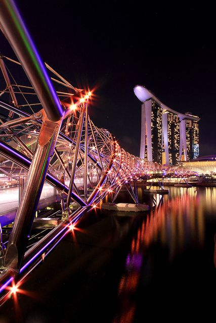 Helix Bridge at Marina Bay Sands, Singapore.
