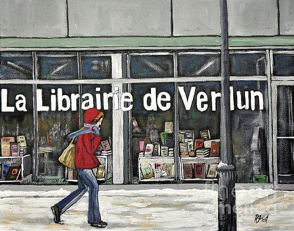 A Cold Day in Verdun  Librairie de Verdun Painting