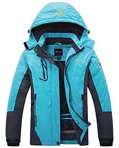 Amazon.com  Wantdo Women s Mountain Waterproof Fleece Ski Jacket Windproof  Rain Jacket  Clothing 8a60b73f2