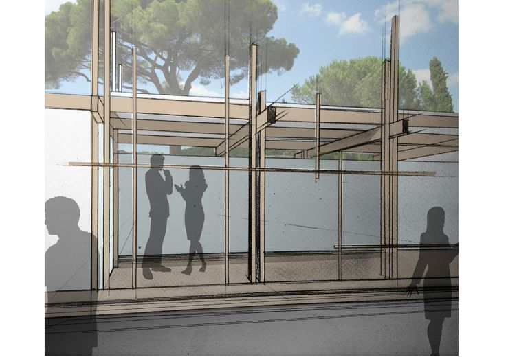 sketches of design concept for exhibitors #design #project #stand #exhibitors #sketches #architecture