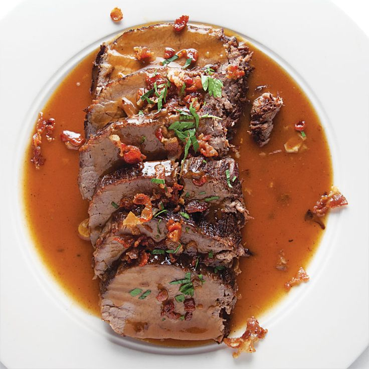 Sauerbraten (German Pot Roast) I will actually have to give one of these sauerbraten recipes a try this week!