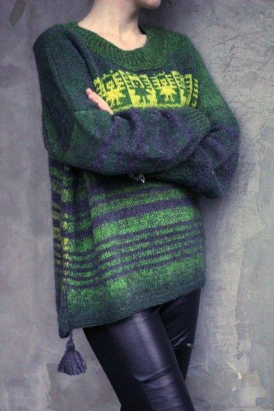 "Свитер - пончо "" Кетцалькоатль"": ru_knitting"