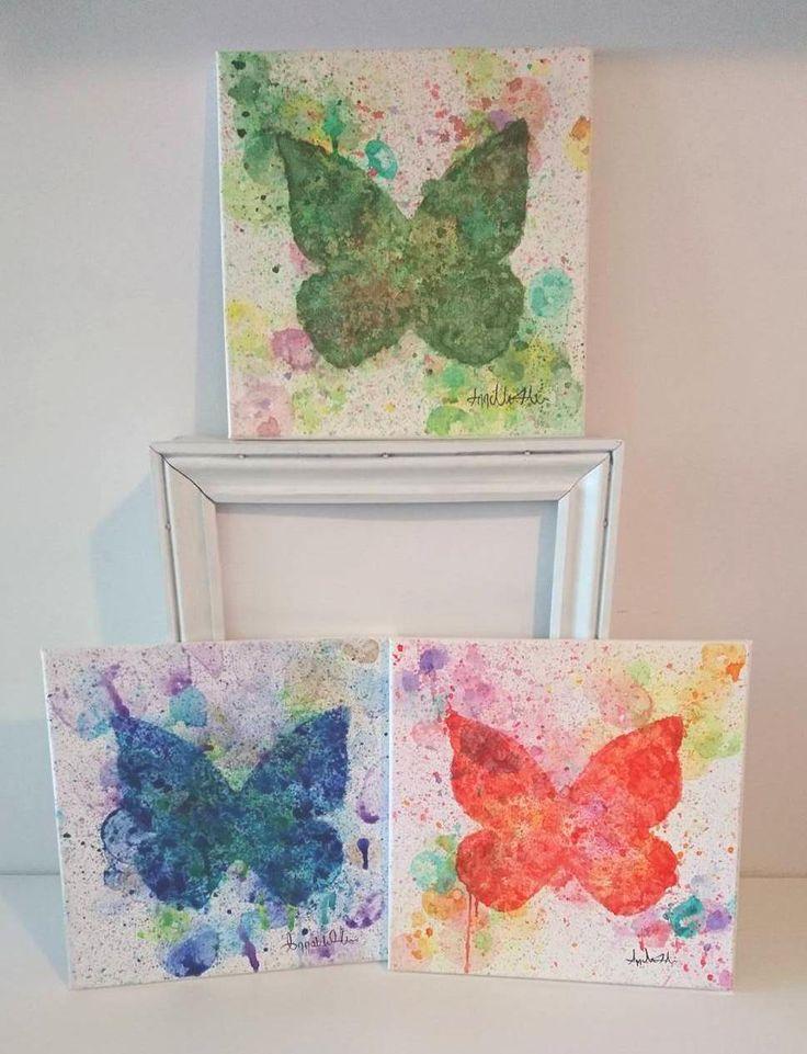 Papillon, Peinture acrylique unique, technique original, Décoration de la boutique AnnciellaAArtiste sur Etsy