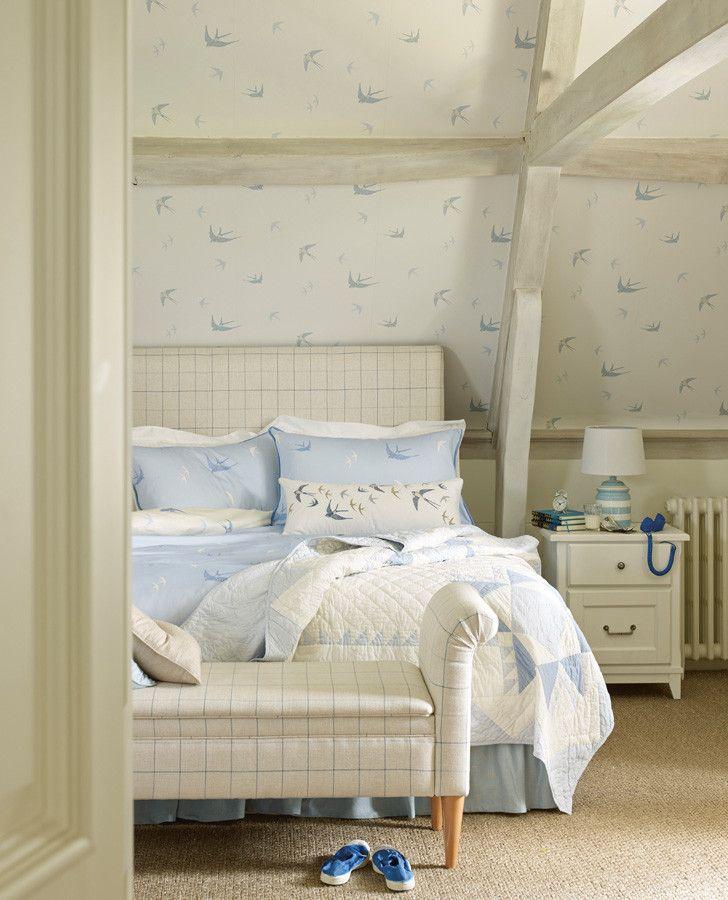 Bluebirds Seaspray Cushion