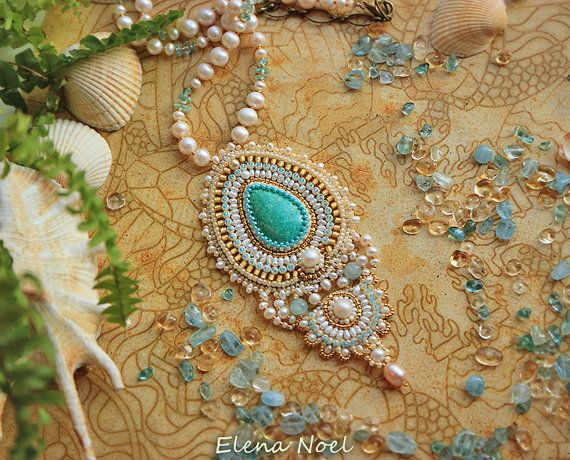 Turquoise necklace. Tenderness with turquoise and by ElenNoel