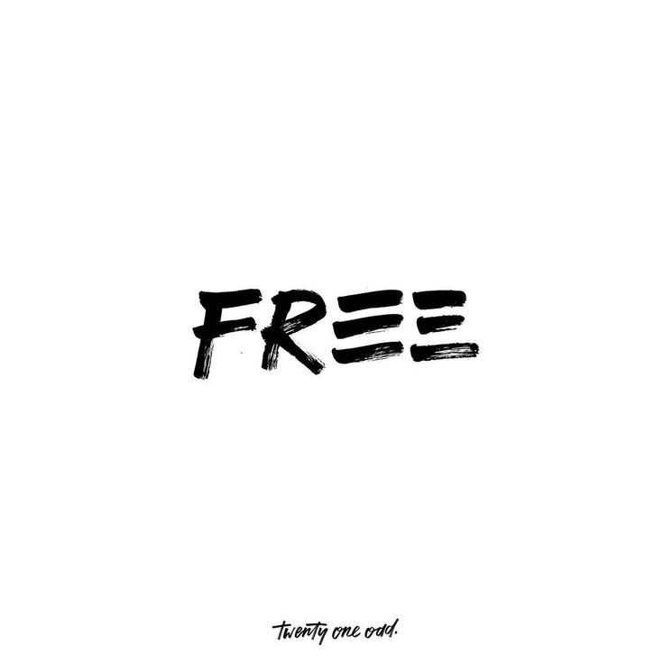 "50 Likes, 2 Comments - Clara Yap (@twentyone.odd) on Instagram: ""I AM FREE. So if the son sets you free, you will be free indeed. . . .  #typography #handlettering…"""