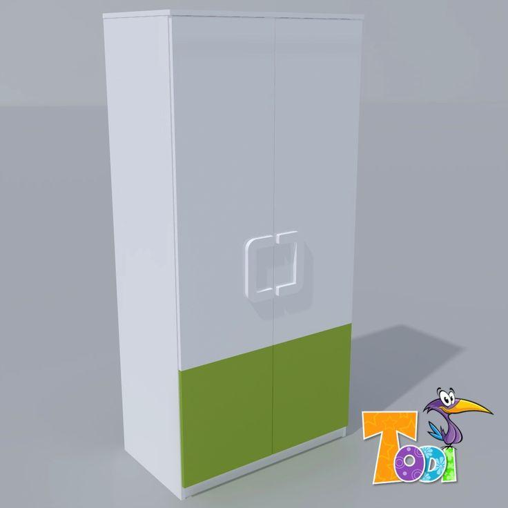 Kaméleon-fehér – 2 ajtós szekrény  #babakomód #babaszekrény