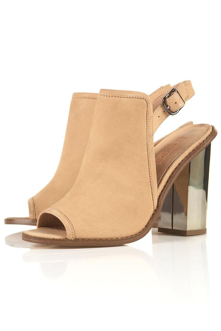 Topshop: Reflective Metallic, Handbags Shoes L0Ve, Boots Flats Heels Wedges, Topshop Heels, Heel Leather, Covetable Shoes, Topshop Shoes