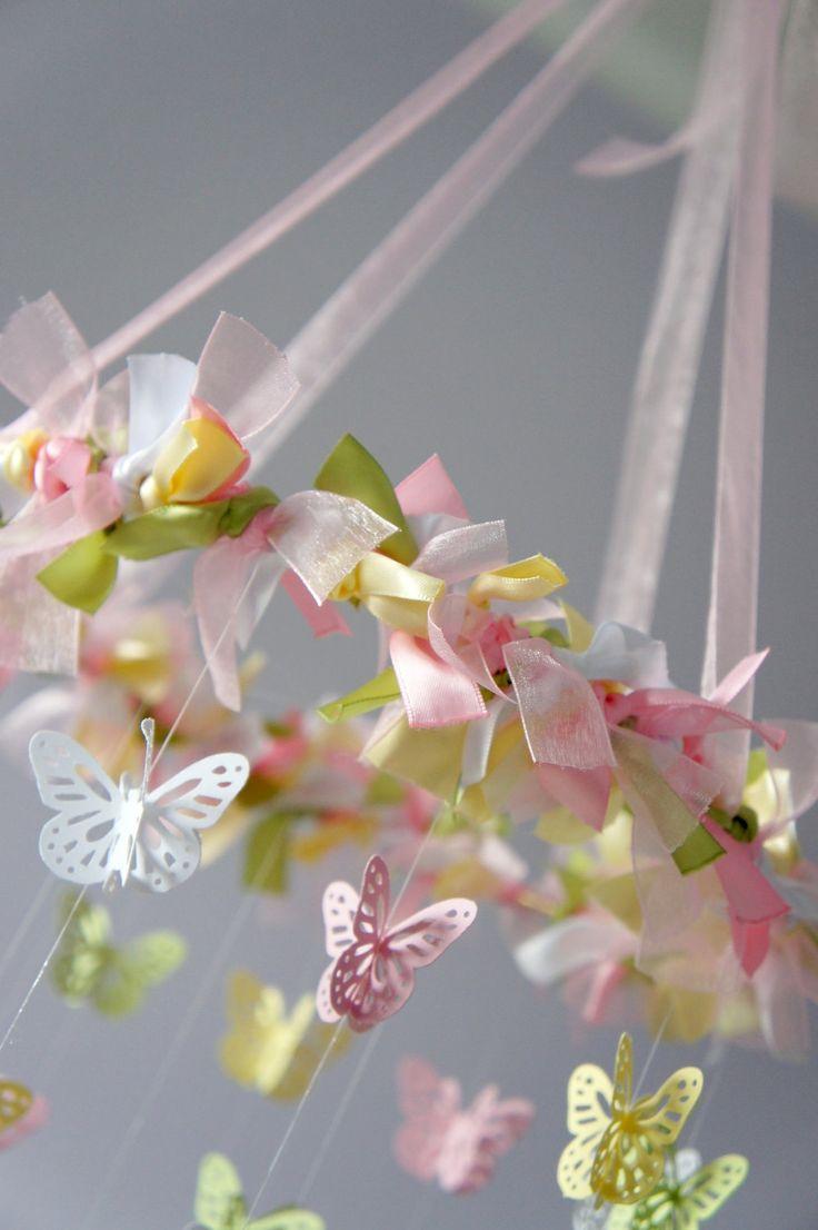 Garden Nursery Mobile - Photography Prop, Baby Shower Gift